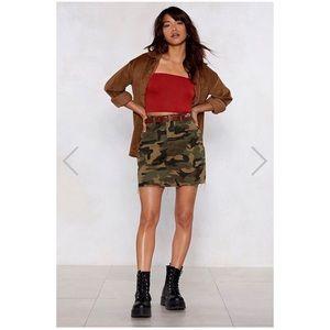 NWT Nasty Gal camo skirt